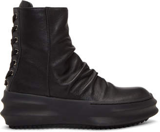 D.gnak By Kang.d Black Back Laced Boots