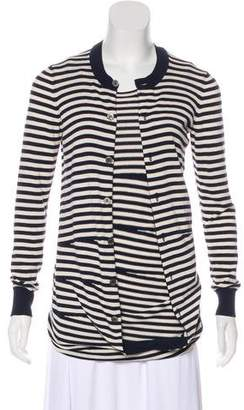 Junya Watanabe Striped Layered Cardigan