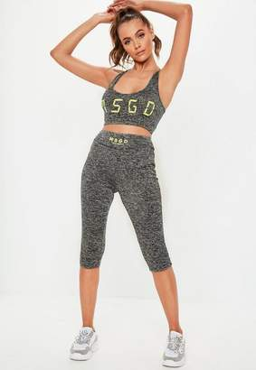 Missguided Active Gray 3/4 Length Leggings