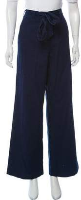 Iris & Ink High-Rise Wide-Leg Jeans