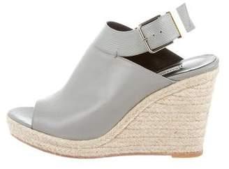 Balenciaga Leather Espadrille Sandals