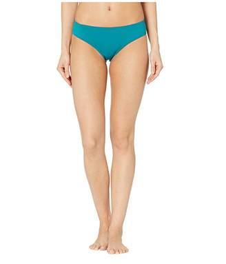 Vince Camuto Surf Shades Shirred Smooth Fit Cheeky Bikini Bottoms
