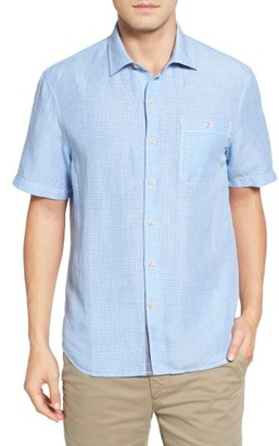 Men's Big & Tall Tommy Bahama Sand Linen Check Sport Shirt $138 thestylecure.com