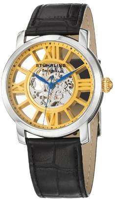 Stuhrling Original Men's 280.331531 Classic Winchester Terrace Mechanical Skeleton Gold Tone Watch