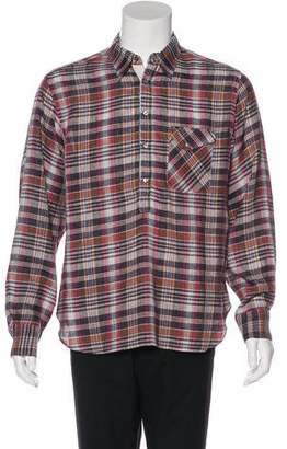 Billy Reid Plaid Pullover Woven Shirt