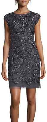 Aidan Mattox - Embellished Mesh Short Dress 54470220 $756 thestylecure.com