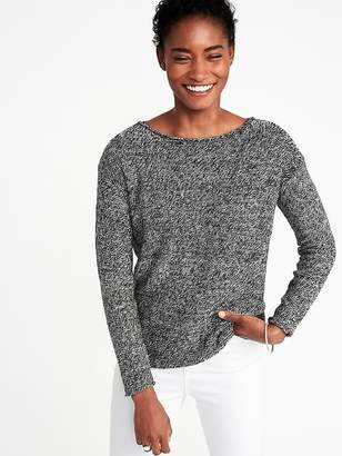 d21c82d6fa7 ... Old Navy Lightweight Marled Bateau Sweater for Women