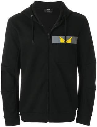 Fendi printed Bug zipped jacket