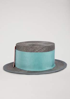 Emporio Armani Straw Hat With Buckle