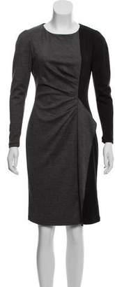 Paule Ka Wool Colorblock Dress