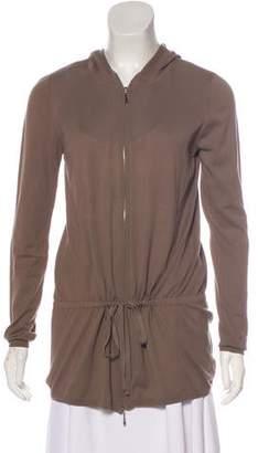 White + Warren Hooded Zip-Up Sweatshirt