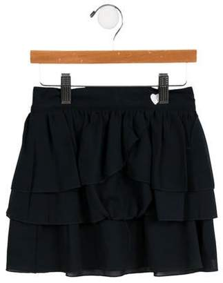 3 Pommes 3Pommes Girls' Tiered Skirt