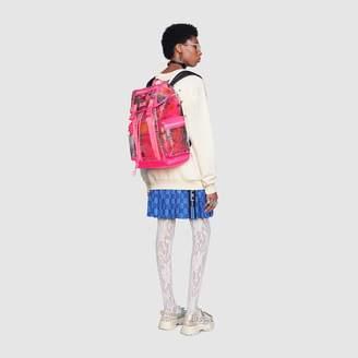 Gucci Flora print vinyl medium backpack