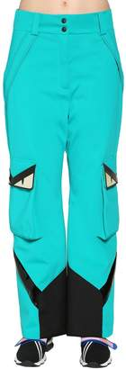 Fendi Monster Stretch Tech Stirrup Ski Pants