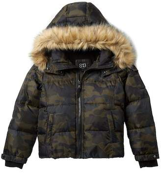 SAM. Camo Faux Fur Downhill Jacket (Big Boys)