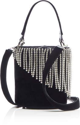 Les Petits Joueurs Baby Olivia Velvet Crystal-Embellished Bucket Bag