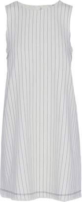 Alexander Wang Frayed Striped Basketweave Cotton Mini Dress