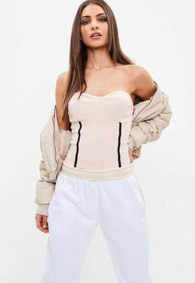 Missguided Nude Bandage Bandeau Top