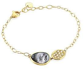 Marco Bicego Women's Lunaria Black Mother-Of-Pearl, Diamond & 18K Yellow Gold Bracelet