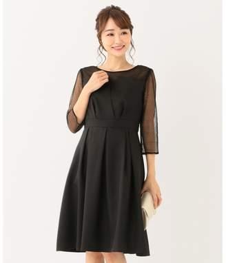 anySiS (エニィスィス) - any SiS 【洗える】ビスチェ風ドットチュール ドレス