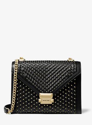 MICHAEL Michael Kors Whitney Large Studded Leather Convertible Shoulder Bag