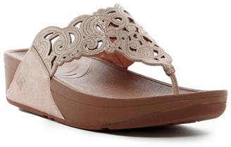 Fitflop Flora Metallic Sandal $99.95 thestylecure.com