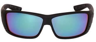 Costa del Mar Costa Cat Cay Plastic Frame Green Mirror Lens Unisex Sunglasses AT01OGMGLP