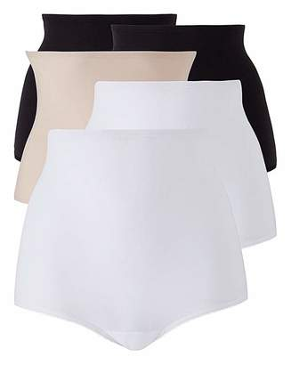 Naturally Close 5Pack Black/White/Blush Comfort Shorts