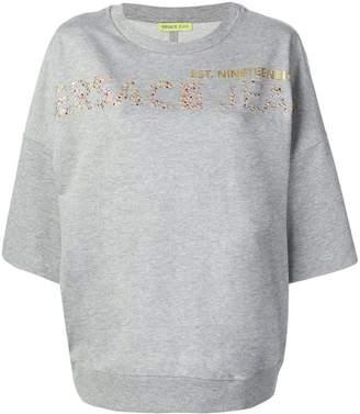 Versace rhinestone logo T-shirt