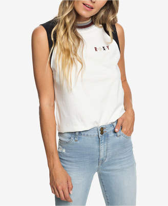 Roxy Juniors' Cotton Embroidered T-Shirt