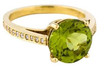 Rina Limor Fine Jewelry 18K Peridot & Diamond Cocktail Ring