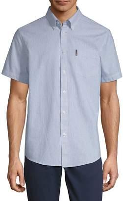Ben Sherman Men's Short-Sleeve Cotton Button-Down Shirt