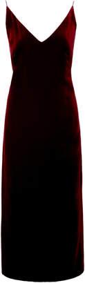 Oscar de la Renta Satin-Crepe Midi Dress