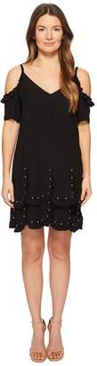 The Kooples Short Sleeve Crepe Dress Women's Dress