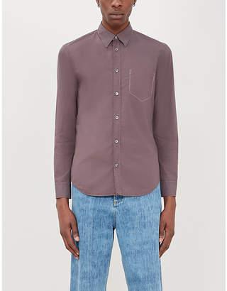 Maison Margiela Contrast-stitched slim-fit cotton-poplin shirt