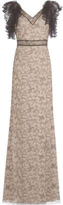Alexander McQueen Floor-Length Gown with Lace