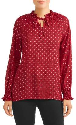 Time and Tru Women's Shiny Top