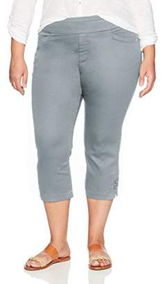 Lee Women's Plus-Size Modern Series Midrise Fit Elena Pull-On Capri Pant