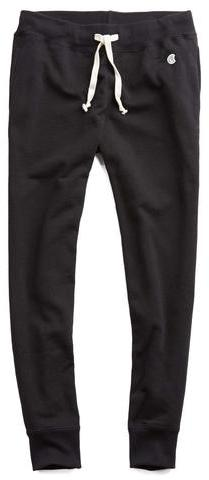 Todd Snyder + Champion Slim Jogger Sweatpant in Black