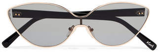 Elizabeth and James Mack Cat-eye Gold-tone Sunglasses
