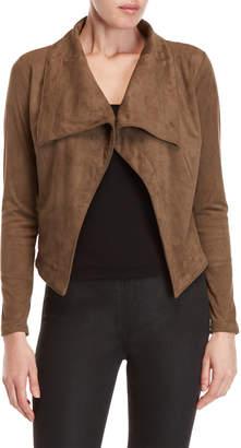 Romeo & Juliet Couture Romeo + Juliet Couture Faux Suede Draped Jacket