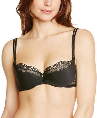 a91e61714f Lejaby Maison 8731-04 Women s Crystal with Lace Underwired Padded Shelf Cup  Half Cup Bra
