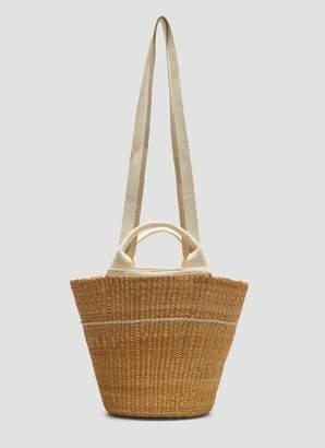 Muun Line Basket Bag in Beige