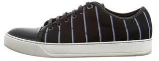 Lanvin Striped Low-Top Sneakers