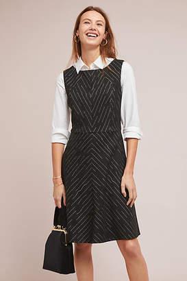 Eva Franco Pinstriped Sleeveless Dress