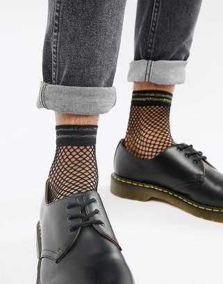 Asos DESIGN fishnet socks with glitter welt