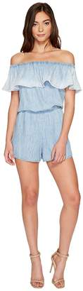 Michael Stars Linen Denim Tencel Convertible Romper Women's Jumpsuit & Rompers One Piece
