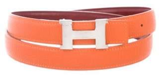 Hermà ̈s Reversible Mini Constance 24Mm Belt Kit Orange Hermà ̈s Reversible Mini Constance 24Mm Belt Kit