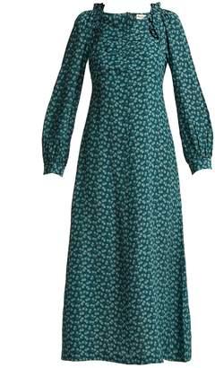 Masscob Provence floral-print silk midi dress
