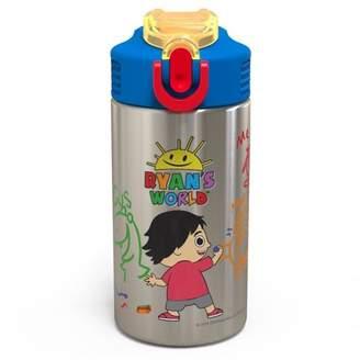 Zak Designs Ryan's World 15.5oz Stainless Steel Water Bottle Red/Blue
